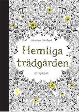 Bild på Hemliga Trädgården - 20 vykort att färglägga