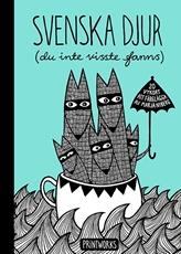 Bild på Svenska djur (du inte visste fanns) : 20 vykort att färglägga